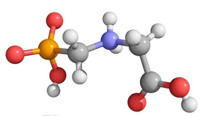 Modelo molecular del herbicida glifosato