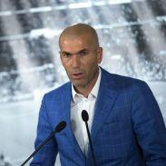 Zidane durante su presentación