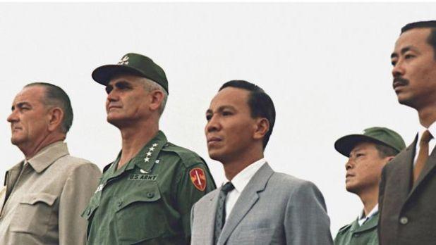Tổng thống Lyndon Johnson, Tướng Westmoreland, Tổng thống Nguyễn Văn Thiệu và Tướng Nguyễn Cao Kỳ
