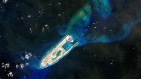 Una isla artificial china