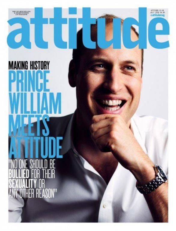 Príncipe William na capa da revista Attitude