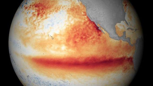 Waa sawir muujinaya masiibadii El Nino ee sannadkii 2015-kii sare u qaaday heer kulka badda Pacifici-ga