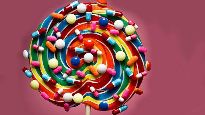 dulce con pastilas