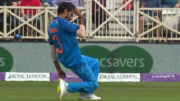 England v India ODI - Captain Eoin Morgan caught by Suresh Raina