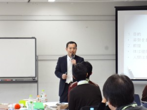 たまいちブートキャンプで講演する碓田ドクター