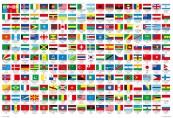 世界の国名と国旗を覚えて一致させるチャレンジです