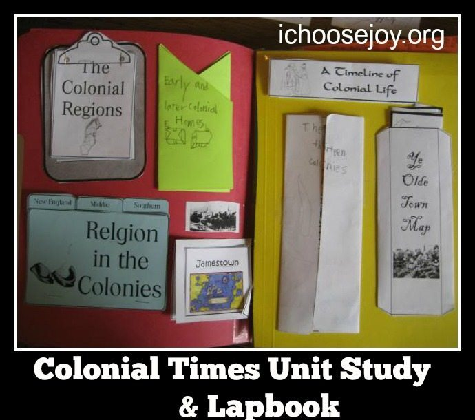 Colonial Times Unit Study and Lapbook