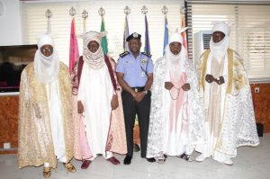 The IGP and some Nasarawa State traditional rulers