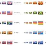 pack icônes drapeaux