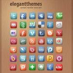 Social media icônes set