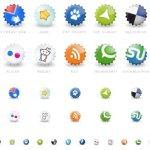 Icônes sociales capsules
