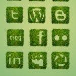 icones sociales herbe