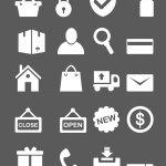 Minimal e-commerce icones