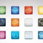 Icônes widget météo