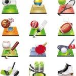 Icônes sports vectorielles