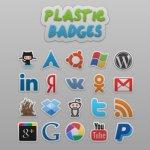 Plastic badges