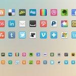 41 social media sharing icons