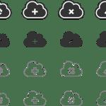 Icônes clouds