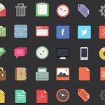 flat designer icons