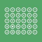36 Circle icon set