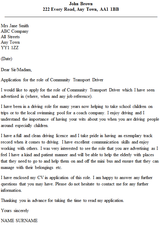 school bus driver cover letter Create a professional and engaging resume with the help of our school bus driver resume sample cover letter cover letter became the designated bus driver for.