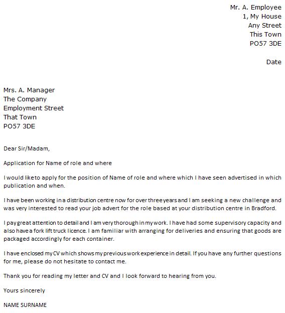 Lift Attendant Cover Letter