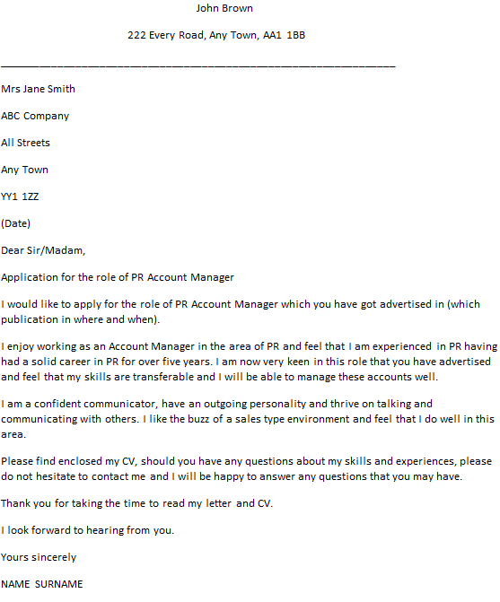 Advertising Manager Cover Letter Advertising Production Manager