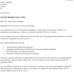 security advisor cover letter example cover letter for a security