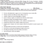 manager cover letters and cv exles