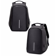 16 inch men anti theft external usb charge notebook backpack male canvas backpacks fashion laptop bag pack large capacity casual travel rucksack shoulder