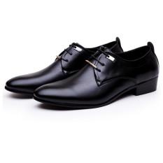 ai home bertali sepatu kulit pu untuk pria kerja santai hitam internasional