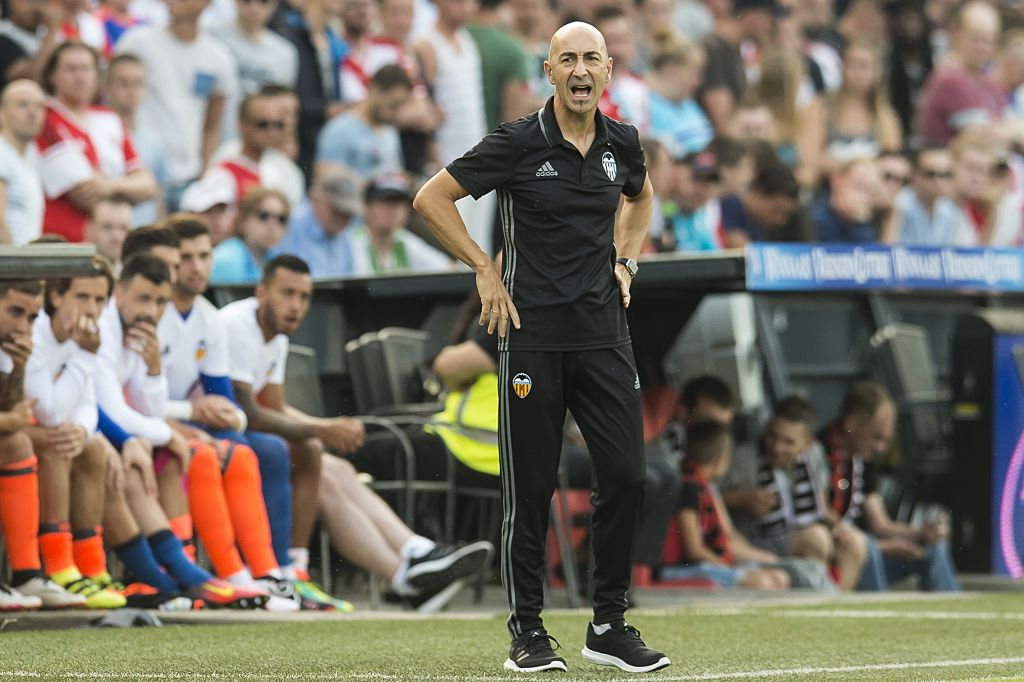 coach Pako Ayestaran of Valencia CF during the pre-season friendly match between Feyenoord  and Valencia on July 23, 2016 at the Kuip in Rotterdam, The Netherlands.(Photo by VI Images via Getty Images)