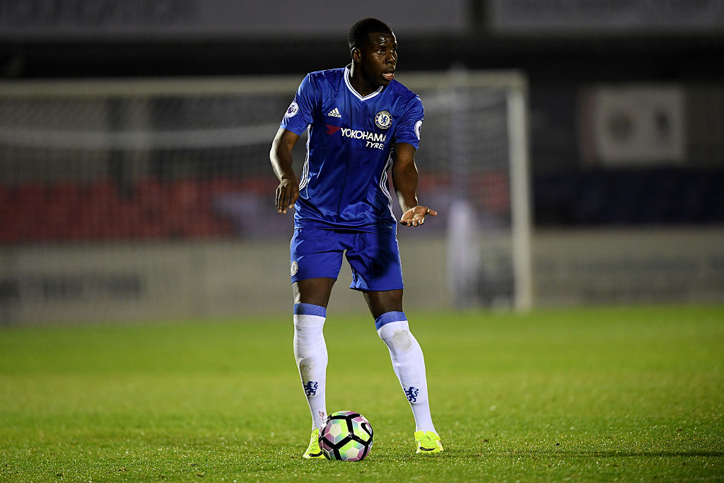 ALDERSHOT, ENGLAND - OCTOBER 24: Kurt Zouma of Chelsea during a Premier League 2 match between Chelsea and Derby County at The EBB Stadium on October 24, 2016 in Aldershot, England. (Photo by Darren Walsh/Chelsea FC via Getty Images)