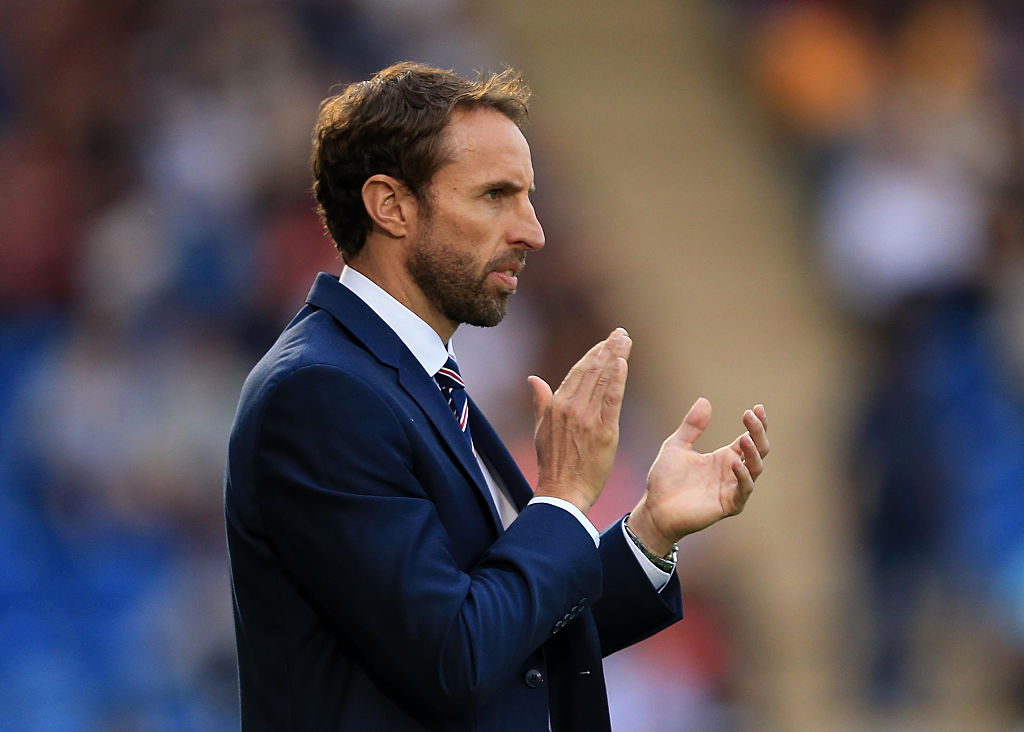 COLCHESTER, ENGLAND - SEPTEMBER 06:  England U21 Head Coach Gareth Southgate during the UEFA European U21 Championship Qualifying match between England and Norway at Colchester Community Stadium on September 6, 2016 in Colchester, England. (Photo by Stephen Pond - The FA/The FA via Getty Images)