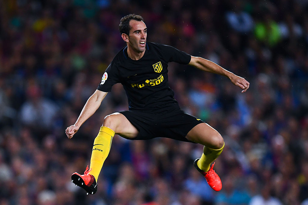 during the La Liga match between FC Barcelona and Club Atletico de Madrid at the Camp Nou stadium on September 21, 2016 in Barcelona, Spain.