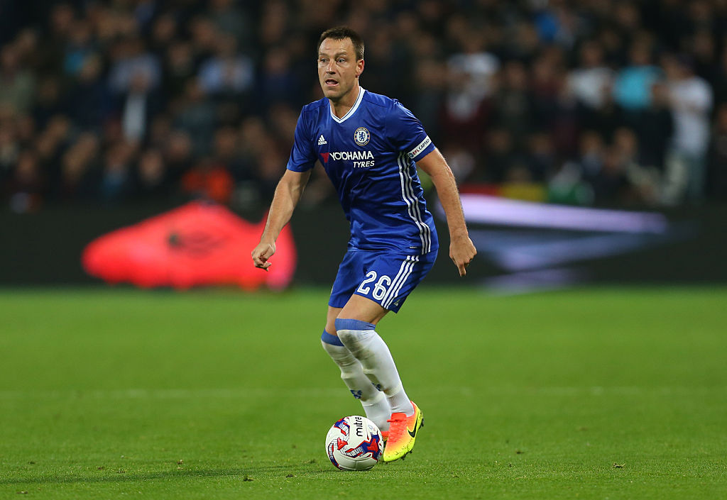 LONDON, ENGLAND - OCTOBER 26: John Terry of Chelsea during the EFL Cup fourth round match between West Ham and Chelsea at The London Stadium on October 26, 2016 in London, England. (Photo by Catherine Ivill - AMA/Getty Images)