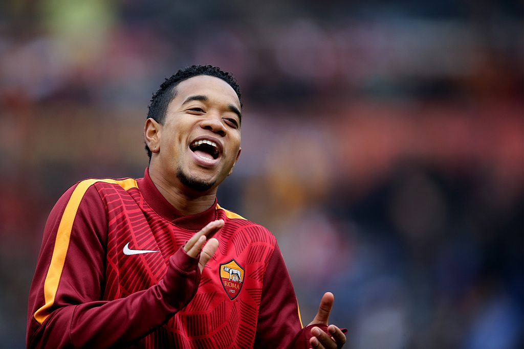 Urby Emanuelson of AS Roma during the Serie A match between AS Roma and Lazio Roma on January 11,2014 at the Stadio Olimpico in Rome, Italy.(Photo by VI Images via Getty Images)