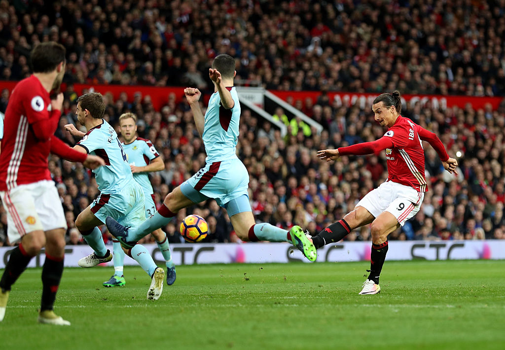 during the Premier League match between Manchester United and Burnley at Old Trafford on October 29, 2016 in Manchester, England.