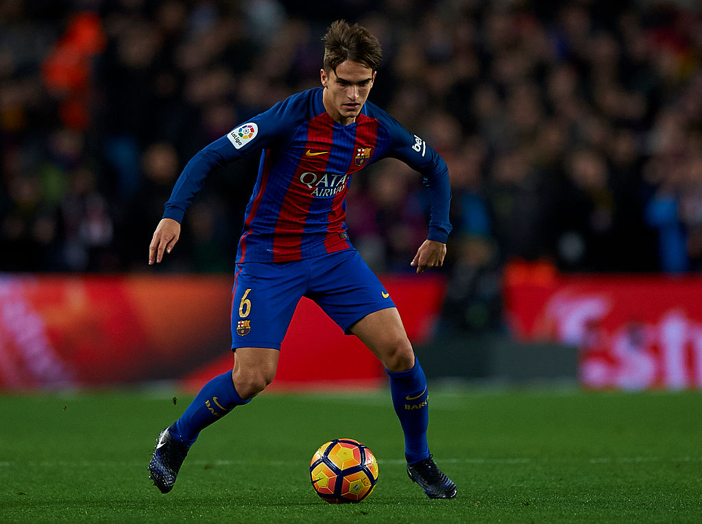 BARCELONA, SPAIN - DECEMBER 18: Denis Suarez of Barcelona in action during the La Liga match between FC Barcelona and RCD Espanyol at Camp Nou Stadium on December 18, 2016 in Barcelona, Spain. (Photo by fotopress/Getty Images)