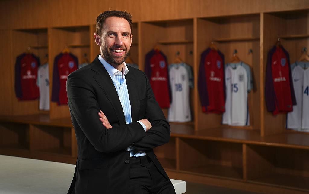 BURTON-UPON-TRENT, ENGLAND - NOVEMBER 29:  Gareth Southgate poses as he is announced as new England manager at St Georges Park on November 29, 2016 in Burton-upon-Trent, England.  (Photo by Michael Regan - The FA/The FA via Getty Images)