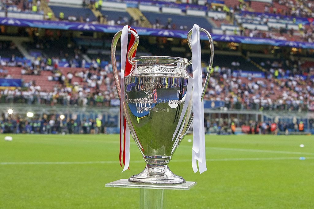 Champions League trophy, Coupe des clubs Champions Europeeens during the UEFA Champions League final match between Real Madrid and Atletico Madrid on May 28, 2016 at the Giuseppe Meazza San Siro stadium in Milan, Italy.(Photo by VI Images via Getty Images)