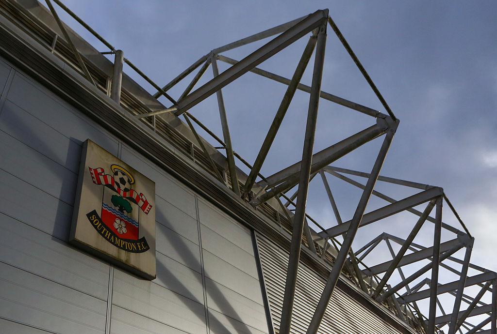 SOUTHAMPTON, ENGLAND - NOVEMBER 27: General view of the club badge on the outside of the stadium before the Premier League match between Southampton and Everton at St Mary's Stadium on November 27, 2016 in Southampton, England. (Photo by Catherine Ivill - AMA/Getty Images)