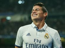 MADRID, SPAIN - DECEMBER 07: James Rodriguez of Real Madrid looks on   during the UEFA Champions League match between Real Madrid CF and Borussia Dortmund at Bernabeu on December 7, 2016 in Madrid. (Photo by TF-Images/Getty Images)