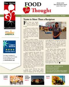 2015 Idaho Foodbank Fall Newsletter
