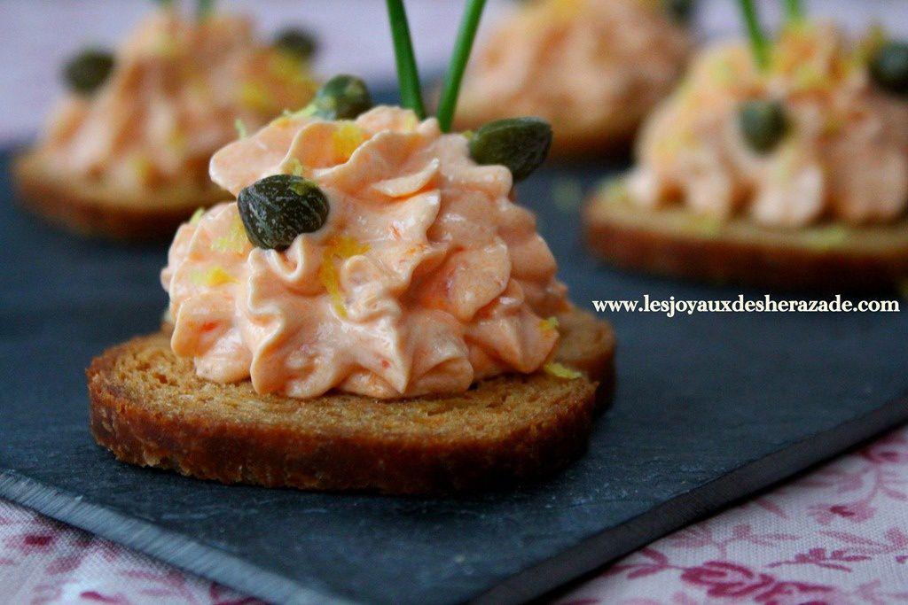 Toast ap ritif cr me au saumon fum - Amuse gueule aperitif ...