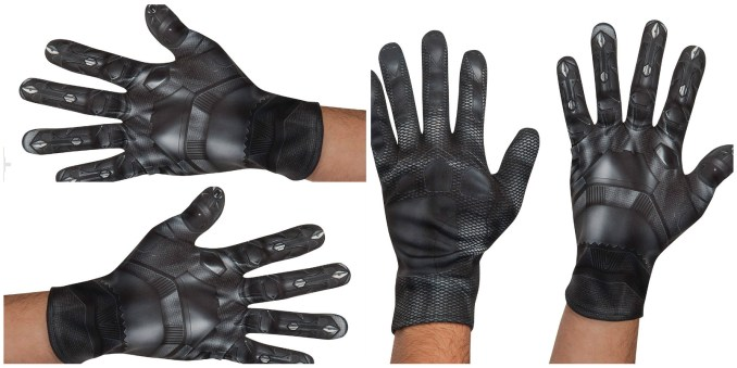 Mens Black Panther Leather Gloves