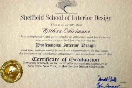 Interior Design Certification