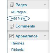 add a page WordPress