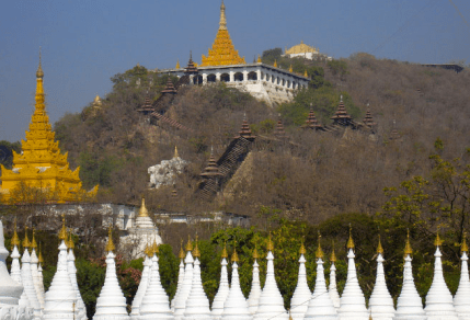 Mandalay Hill en Birmanie