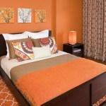 poze dormitoare portocalii